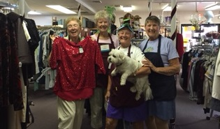 Some of our Thrift Shop staff and volunteers.